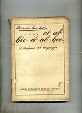 Americo Scarlatti # ET AB HIC ET AB HOC N.9 # UTET 1930