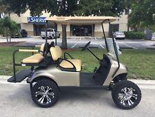 gold 2017 GAS Ezgo txt 4 passenger seat golf cart windshield lifted 400cc engine