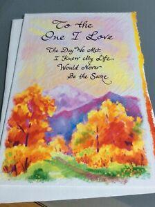 Blue Mountain card Emotional sentimental words One I Love