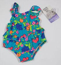 CARTERS INFANT GIRLS SIZE 9-12M NWT SWIMSUIT TUTTI FRUITY FRUIT & FLOWERS 9M 12M