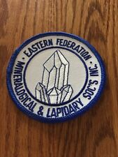 Patch, Eastern Federation of Mineralogical & Lapidary Societies, Unused, 3 Inch.
