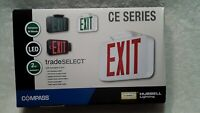 COMPASS CER LED EMERGENCY EXIT SIGN LIGHT BY HUBBELL LIGHTING CE SERIES