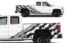 Vinyl Graphics Decal Wrap Kit for 2014-17 GMC SIERRA SHRED Crew Cab Matte Black
