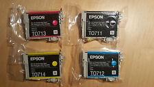 Genuine Epson T0715 Cartucce di inchiostro (T0711 T0712 T0713 T0714)
