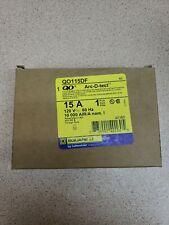 NEW Square D QO115DF Circuit Breaker 15A 1P 120V Combination Arc/Ground Fault