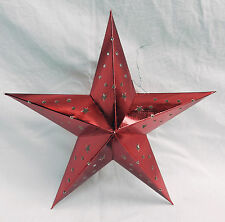 Shiny Cardboard Star / Star Lantern - Decoration / Christmas - assorted colours