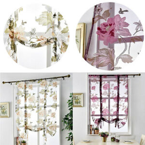 Rod Pocket Sheer Curtain Voile Window Drape Tulle Panel Kitchen Cafe Home Decor