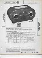 ZENITH G515 THE DAYBREAK AM CLOCK RADIO ADVERTIT / BROCHURE ...
