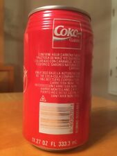 Coca Cola Coke Can RARE PUERTO RICO 11.27 oz 333.3 ml Classic