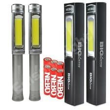 2 PACK NEBO 6306 Big Larry 400 Lumen COB LED Work Lights Grey w/6X AA Batteries