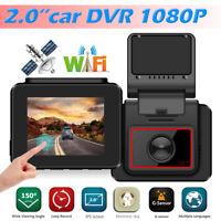 "H7 2.0"" FHD 1080P Dual Lens WiFi Car DVR Camera Video Recorder GPS Dash Cam"