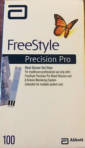 100 FreeStyle PRECISION PRO Teststreifen / MHD 07-2022 / neu/OVP / 4x verfügbar