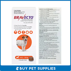 Bravecto Orange For Small Dogs 4.5-10kg 1 Pack Chew