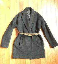 BCBG MAXAZRIA Black Wool Women's Coat, Size Xs