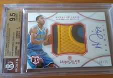 2012-13 ANTHONY DAVIS Immaculate BGS 9.5 16/25 JUMBO 4CL PATCH AUTO RC Red