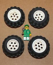 LEGO Reifen 14x4mm mit Felge 6x8mm in weiss 4624 59895-8 Stück