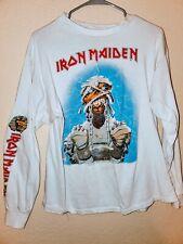 Iron Maiden World Slavery Tour Jersey Shirt Original Vintage XL Powerslave 1984