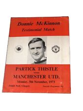 More details for 1973 partick thistle v man united feat george best in donnie mckinnon test