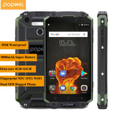 """5.5"""" POPTEL P9000 Max 4GB+64GB IP68 4G Android Smartphone Octa Core Rugged Phone"""