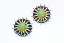 Philippe Ferrandis Paris 1980's Ceramic Sun Earrings