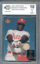2001 upper deck propect #62 RYAN HOWARD rookie BGS BCCG 10