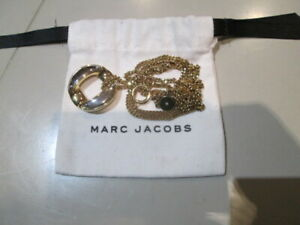 Marc by Marc Jacobs circular pendant,  gold & silver tone, w pouch, AUTH & BNWT