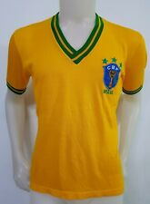 MAGLIA CALCIO SHIRT BRASILE VINTAGE MAILLOT FOOTBALL ITALY SOCCER BRAZIL OLD N46