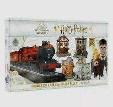 NIB Harry Potter 3D Puzzle Hogwarts Express and Diagon Alley 453 Pieces!