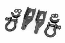Rough Country Tow Hook Shackle Kit (fits) 2009-2020 Ford F150 | 2- Black D-Rings