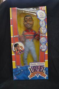 "Vintage Hasbro Steve Urkel 17"" Talking Doll From Family Matters 1991 NRFB"