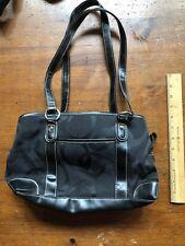 Black Purse Handbag Bag Pocket Book Lots Of Pockets EUC