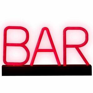 Neon LED BAR Sign   Super bright   Portable LED light up letters   Bar Décor