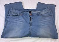 Lane Bryant Womens Size 18 Light Blue Jeans Capris