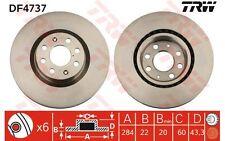 TRW Juego de 2 discos freno Antes 284mm ventilado OPEL CORSA FIAT PUNTO DF4737