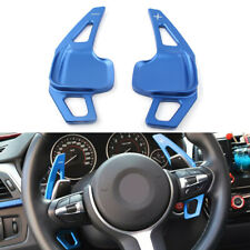 Steering Wheel Shift Paddle Blade Shifter Extension For BMW 3 5 Series F10 Blue
