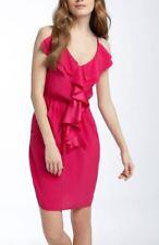 Rebecca Taylor NWT $295 Waterfall Ruffle Hammered Silk Empire Waist Dress Size 8