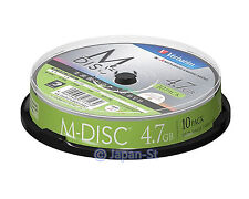 10 Verbatim M-DISC 4.7GB DVD-R Permanent Data Archival 4x Inkjet Printable DVD