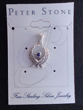 Silver Kumano Crow Pendant 925 Sterling Silver Natural Lapis by Peter Stone