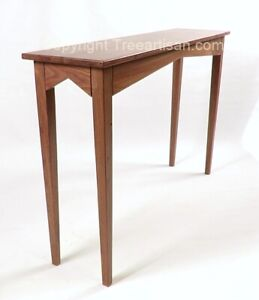 Artisan Handcrafted Walnut Console Hall Sofa Table Made in USA