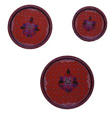 Indian Traditional Wooden Wall Hanging Set of 3 Plates,Wood Plates Wall Art