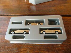 HERPA Exclusiv Triumph TR3 Mercedes Benz CLK BMW 3er Cabrio gold VEDES Box 1:87