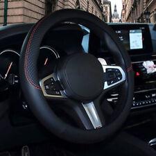Car Steering Wheel Cover PU Leather Anti-Slip 38cm Black Universal Accessories