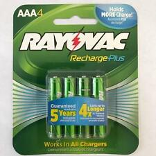 BRAND NEW Rayovac Recharge PLUS High-Capacity Rechargeable 900 mAh NiMH AAA