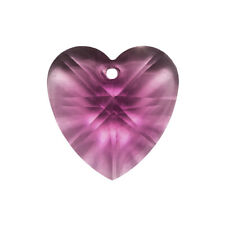 Crystal Faceted AAA Quality Black Heart Pendant 18x9mm A67//1