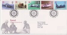 GB ROYAL MAIL FDC FIRST DAY COVER 1998 LAND SPEED RECORDS STAMP SET PENDINE PMK