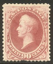 U.S. #191 SCARCE MInt w/Cert - 90c Carmine ($2,000)