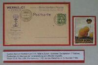 BP29) Schweiz Privat-GA Putzpulver SoSt Gordon Bennett-Fliegen Zürich 3.X.1909