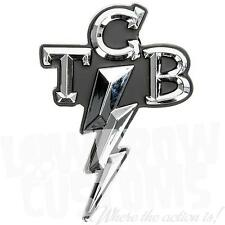Lowbrow Customs TCB Taking Care of Business Chrome Stick-On 3D Emblem Elvis