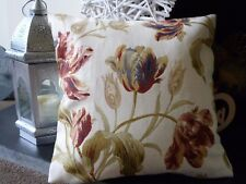 LAURA ASHLEY GOSFORD PAPRIKA FLORAL CUSHION COVER. 16 x 16.