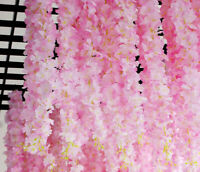 2M Sakura Rattan Garland Wedding Party Decorative Vine Wall Hanging Home Decors